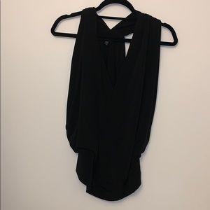 Express black cutout shirt